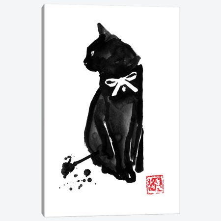 Chat Noeud Canvas Print #PCN390} by Péchane Canvas Art Print