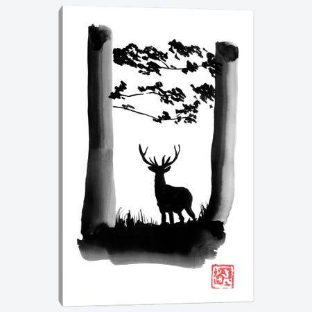 Deer Canvas Print #PCN396} by Péchane Canvas Art