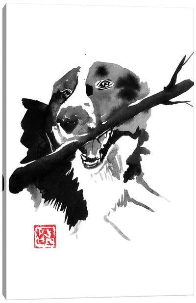 Dog Wood Canvas Art Print