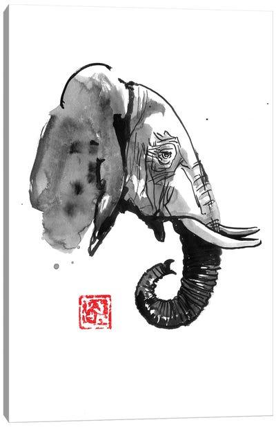 Elephant Profile Canvas Art Print