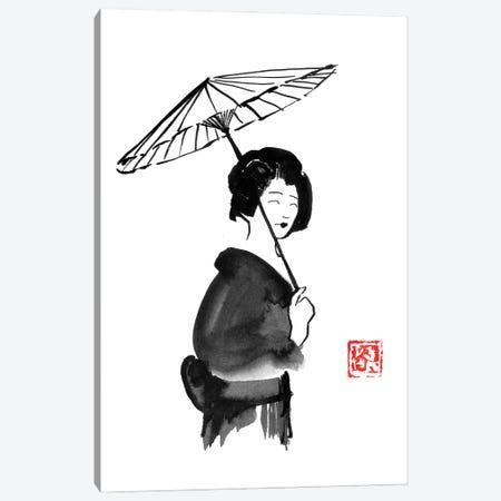 Geisha Umbrella Canvas Print #PCN408} by Péchane Canvas Art Print