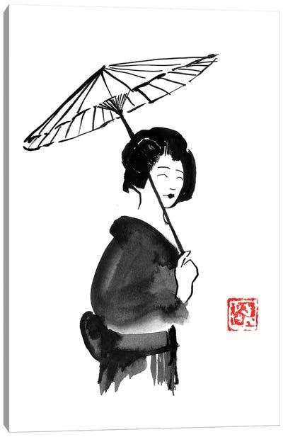 Geisha Umbrella Canvas Art Print