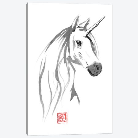 Licorne Dispo A Vendre Canvas Print #PCN417} by Péchane Art Print