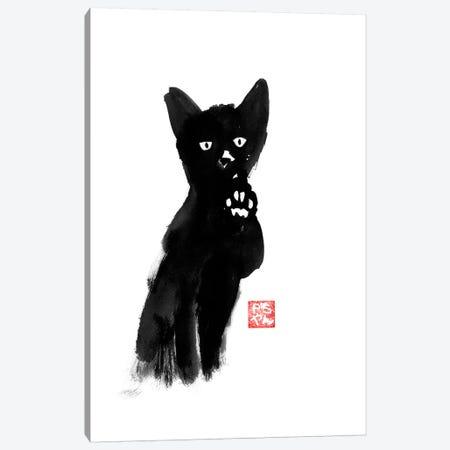Demanding Cat Canvas Print #PCN42} by Péchane Canvas Art Print