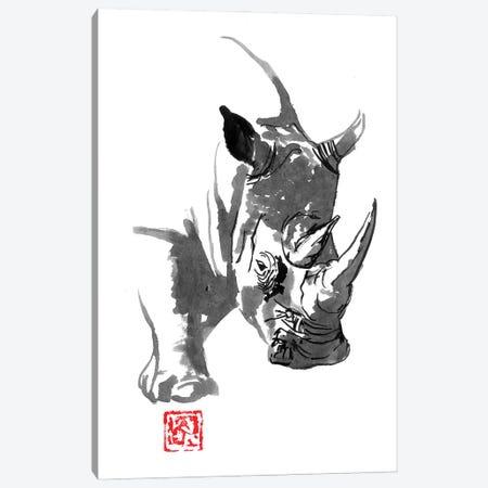 Rhino Canvas Print #PCN430} by Péchane Canvas Art
