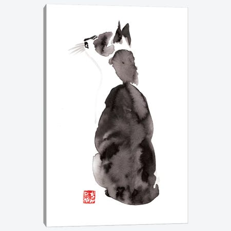 Dreamer Cat Canvas Print #PCN43} by Péchane Art Print