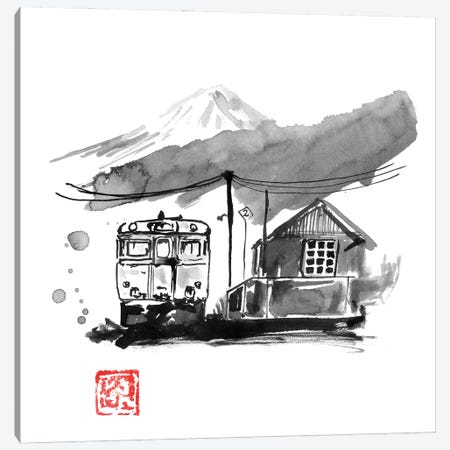 Train Station In Japan Canvas Print #PCN445} by Péchane Canvas Art