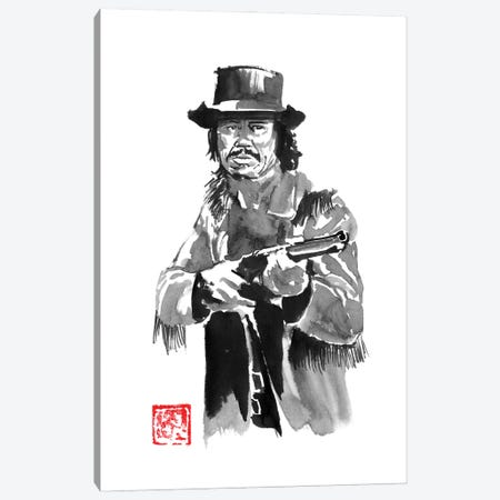Charles Bronson With Rifle Canvas Print #PCN459} by Péchane Canvas Artwork