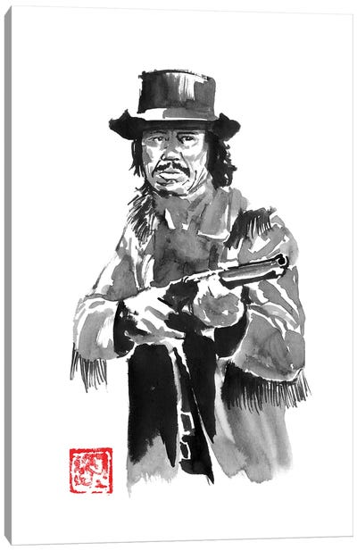 Charles Bronson With Rifle Canvas Art Print