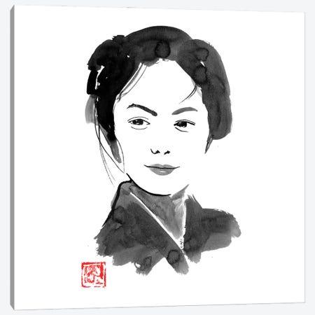 The Painters Daughter Canvas Print #PCN476} by Péchane Art Print