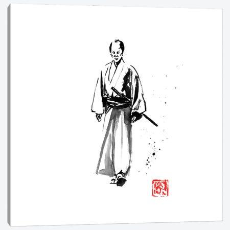 Walking Samurai Canvas Print #PCN481} by Péchane Art Print