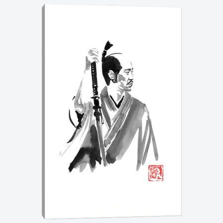 Waiting Samurai Canvas Print #PCN492} by Péchane Canvas Artwork