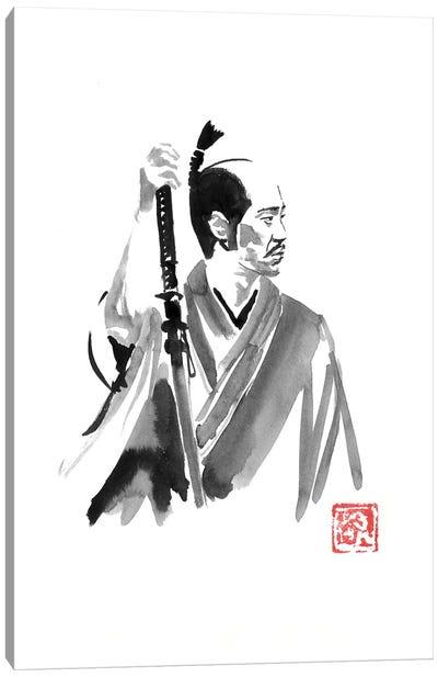 Waiting Samurai Canvas Art Print