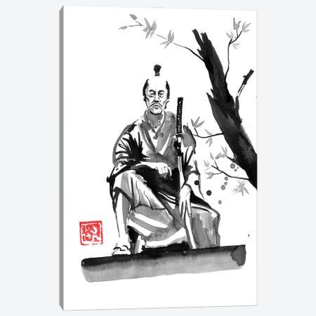 Seated Samurai Canvas Print #PCN493} by Péchane Canvas Art