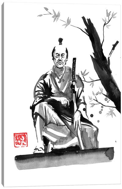 Seated Samurai Canvas Art Print