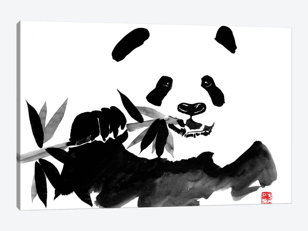 Eating Panda by Péchane 1-piece Canvas Wall Art
