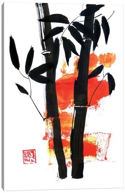 bamboo In Yellow Canvas Art Print