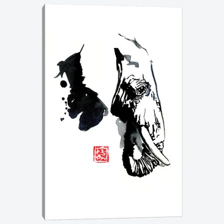 Elephant Profile Canvas Print #PCN52} by Péchane Canvas Artwork