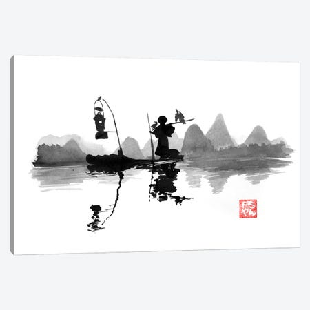 Fishing At Night Canvas Print #PCN62} by Péchane Canvas Art Print