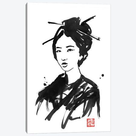 Geisha II 3-Piece Canvas #PCN68} by Péchane Canvas Art Print