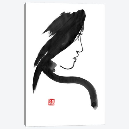 Geisha Profile 3-Piece Canvas #PCN69} by Péchane Canvas Art Print
