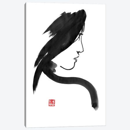 Geisha Profile Canvas Print #PCN69} by Péchane Canvas Art Print