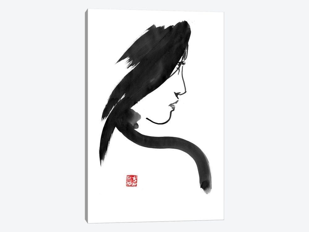 Geisha Profile by Péchane 1-piece Canvas Wall Art
