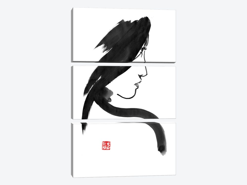 Geisha Profile by Péchane 3-piece Canvas Artwork