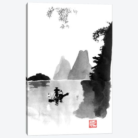 At Night On The River Canvas Print #PCN6} by Péchane Canvas Artwork
