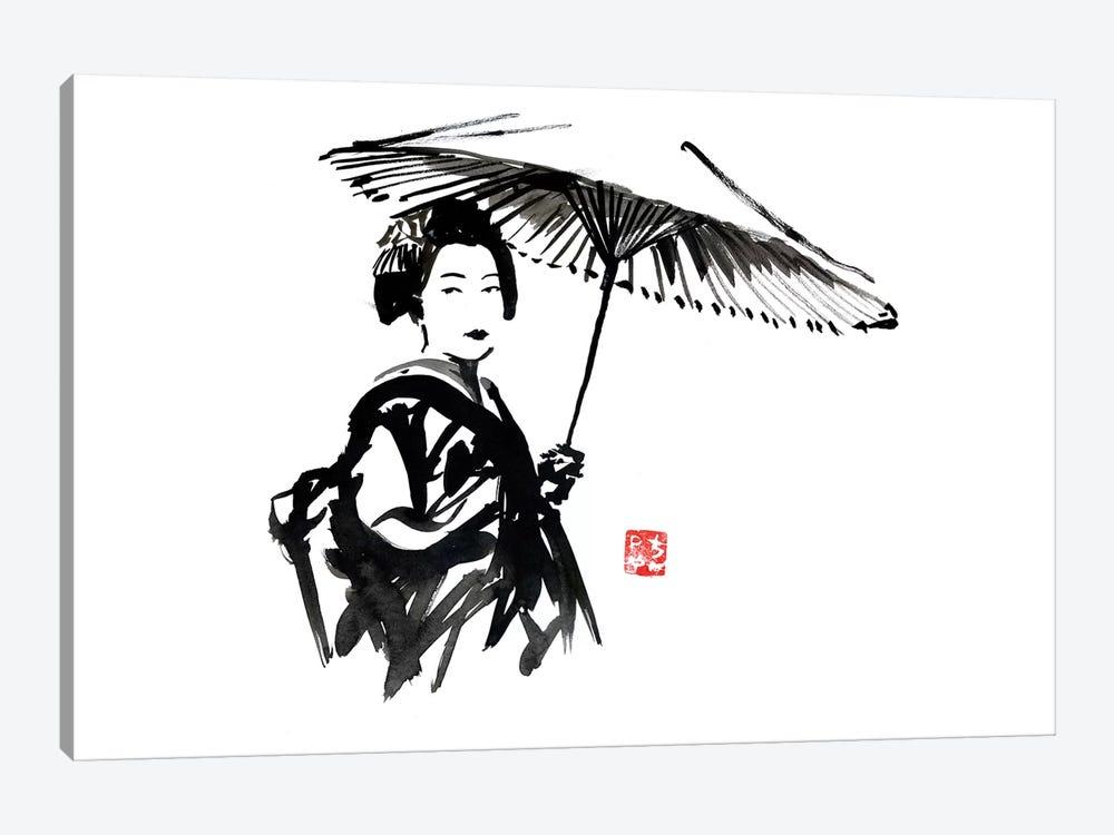 Geisha With Umbrella by Péchane 1-piece Canvas Art