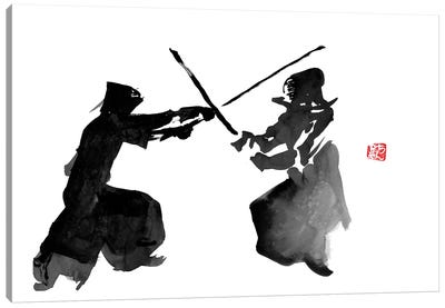 Kendo Fight Canvas Art Print