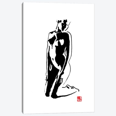Kneeing Canvas Print #PCN92} by Péchane Canvas Artwork