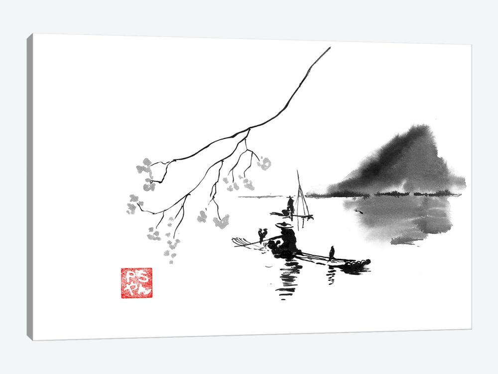 Lake by Péchane 1-piece Canvas Art Print