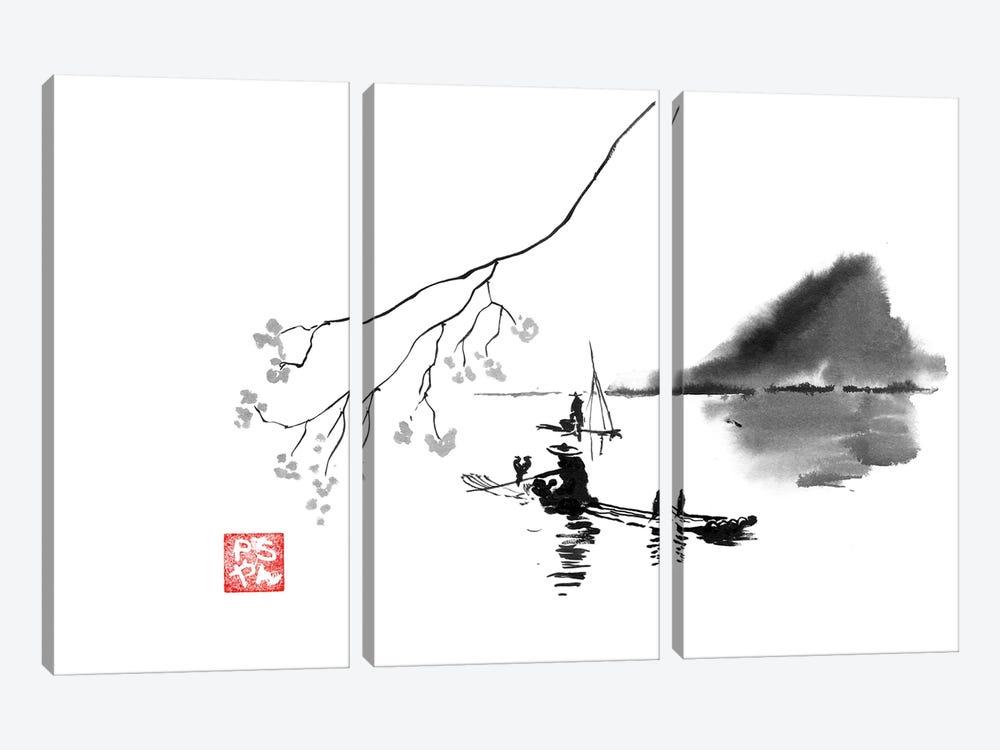 Lake by Péchane 3-piece Canvas Print