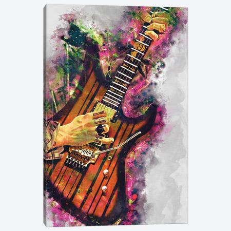 Synyster Gates's electric guitar Canvas Print #PCP100} by Pop Cult Posters Canvas Wall Art