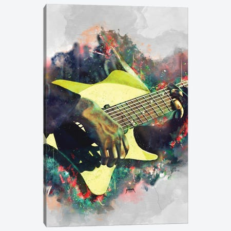 Tosin Abasi's Electric Guitar Canvas Print #PCP101} by Pop Cult Posters Canvas Wall Art