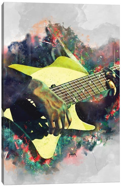 Tosin Abasi's Electric Guitar Canvas Art Print