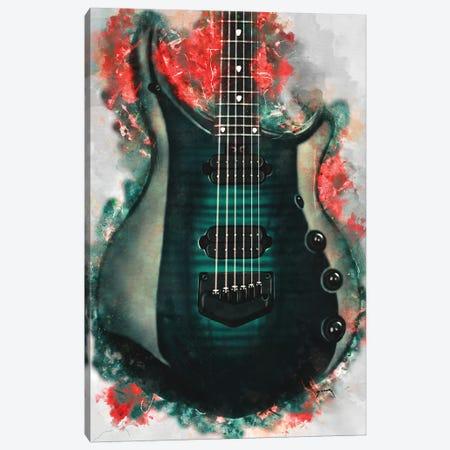 John Petrucci's Electric Guitar Canvas Print #PCP103} by Pop Cult Posters Canvas Artwork