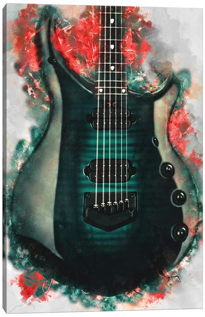 John Petrucci's Electric Guitar Canvas Art Print