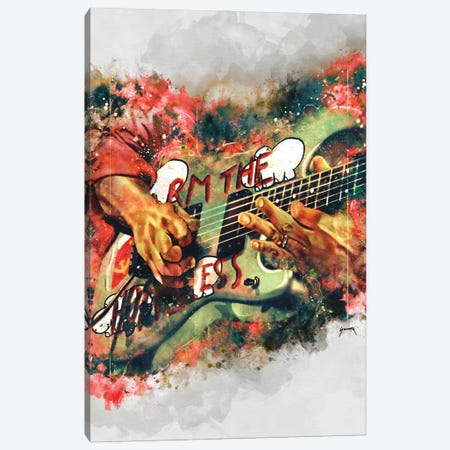Tom Morello's Electric Guitar Canvas Print #PCP104} by Pop Cult Posters Canvas Print