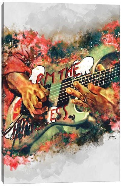 Tom Morello's Electric Guitar Canvas Art Print
