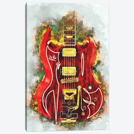 Billy Gibbons's Lil' Red Canvas Print #PCP105} by Pop Cult Posters Canvas Art Print