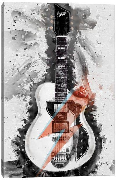 David Bowie's Guitar Caricature I Canvas Art Print