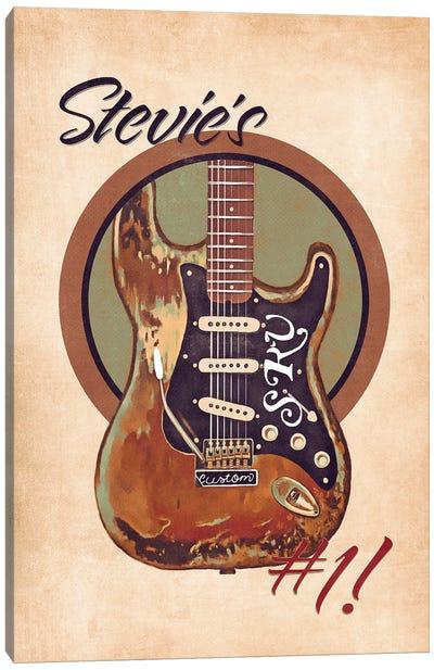 Stevie Ray Vaughan's Guitar Retro Canvas Art Print