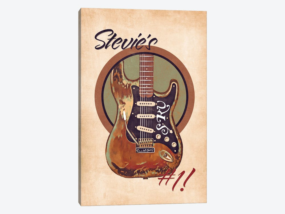 Stevie Ray Vaughan's Guitar Retro by Pop Cult Posters 1-piece Canvas Artwork