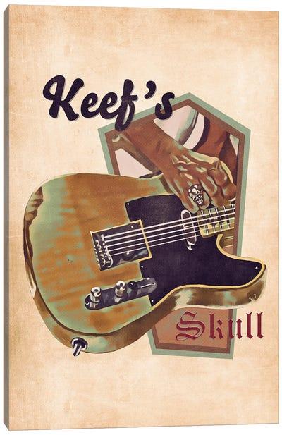 Keith Richards's Guitar Retro Canvas Art Print