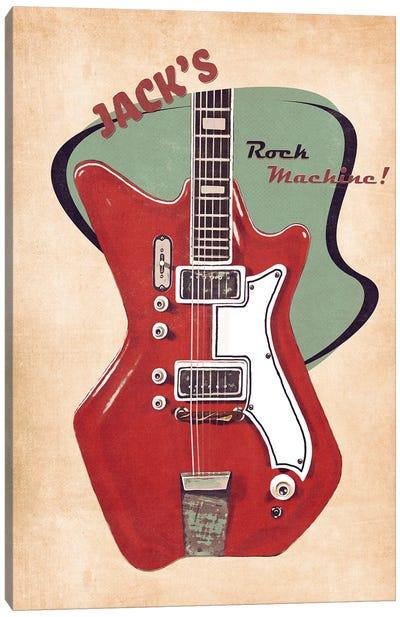 Jack White's Guitar Retro Canvas Art Print