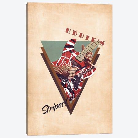 Eddie Van Halen's Guitar Retro Canvas Print #PCP123} by Pop Cult Posters Canvas Wall Art