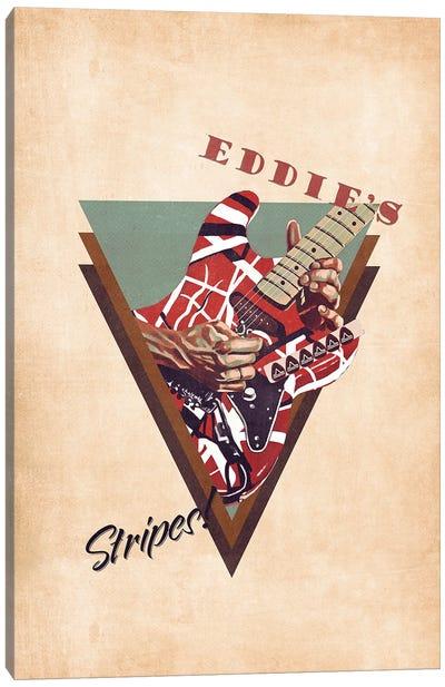 Eddie Van Halen's Guitar Retro Canvas Art Print