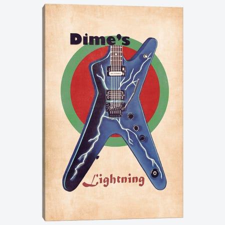 Dimebag Darrell's Retro Guitar Canvas Print #PCP124} by Pop Cult Posters Canvas Print